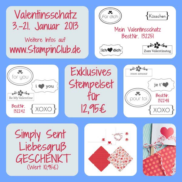Valentinsschatz Stampin Up Aktion Januar 2013