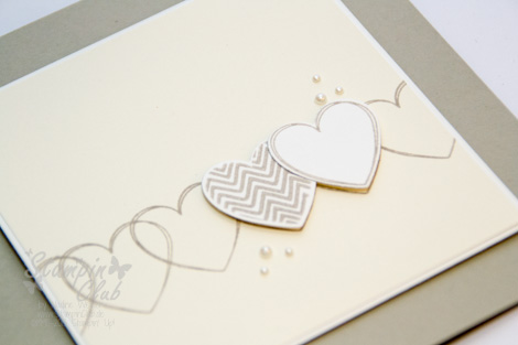 schnelle hochzeitskarte mit hearts a flutter stampinclub. Black Bedroom Furniture Sets. Home Design Ideas