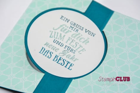 DSC_2171 Stampin Up Christmas Weihnachten Thinlits Circle Card Form Pop-Up-Karte Kreis Festive Flurry Framelits Dies Flockentanz DSP Winter Frost Eiszauber Northern Flurry Eiskristall Prägefolder A6_
