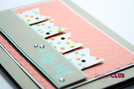 DSC_2973 Stampin Up Match the Sketch Challenge Four You sale-a-bration 2014 Decorative Dots Embossing Folder Prägeform Punkteregen Sweet Sorbet Süßes Sorbet DSP_