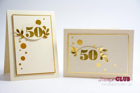 Sehr Kartenduo zur Goldenen Hochzeit - StampinClub WE11