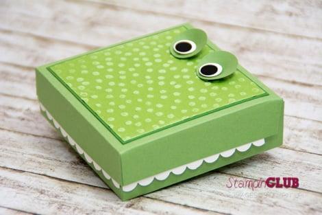 DSC_3152 Stampin Up Crocodile box Krokodil Verpackung Punktemeer TI Prägefolder Decorative Dots -