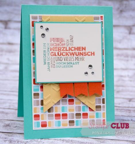 DSC_3363 Stampin Up Retro Fresh DSP Retro-Spaß Arrows Textured Impressions Embossing Folder Pfeile Ein duftes Dutzend_