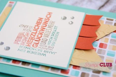 DSC_3366 Stampin Up Retro Fresh DSP Retro-Spaß Arrows Textured Impressions Embossing Folder Pfeile Ein duftes Dutzend_