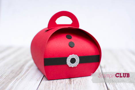 20140914Stampin Up Christmas Weihnachten Curvy  Keepsakes Box Santa Thinlits Formen Zierschachtel für Andenken Nikolaus-3