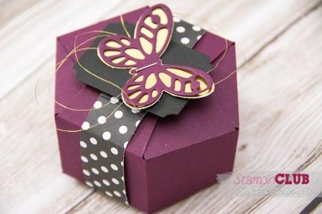 Stampin Up, Hexagon Box, Sechseckbox, Stanz- und Falzbrett für Geschenktüten, Gift bag punch board