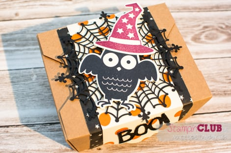 20150829 Stampin Up Halloween Box Howl-o-ween Treat Boo To You Framelits Spuk und Spaß Happy Haunting DSP Designerpapier Geisterstunde_