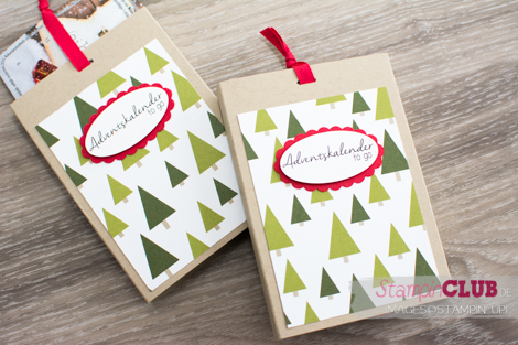 Stampin Up, Adventskalender to Go, Mini-Adventskalender, Schokoladenaufzug