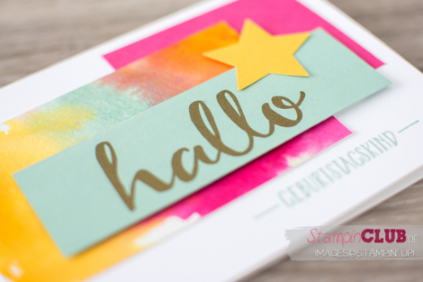 Stampin Up 2016 sale-a-bration Wasserfarben Watercolor Hallo Hello