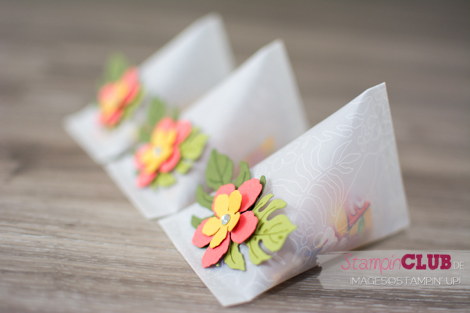 tampin Up Botanischer Garten Sour Cream Container Batonaical Blooms Framelits Pflanzen-Potpourri