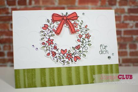 20160224 Stampin Up Bouncing Brayer Technique Fruehlingsreigen Circle Of Spring Framelits Formen Willkommen Weihnachten Wonderful Rreath Framelits_-2