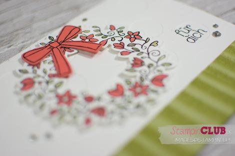 20160224 Stampin Up Bouncing Brayer Technique Fruehlingsreigen Circle Of Spring Framelits Formen Willkommen Weihnachten Wonderful Rreath Framelits_-3