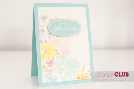 Stampin Up Corner Garden Watercolor Rosenzauber Rose Wonder