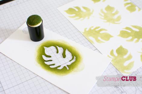 20160520 Stampin Up stencil botanical Builders Framelits Pflanzen Potourri_