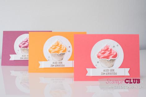 Stampin Up Sweet Cupcake Cupcake Cutouts Cupcake für dich Cupcake-Kreationen Framelits