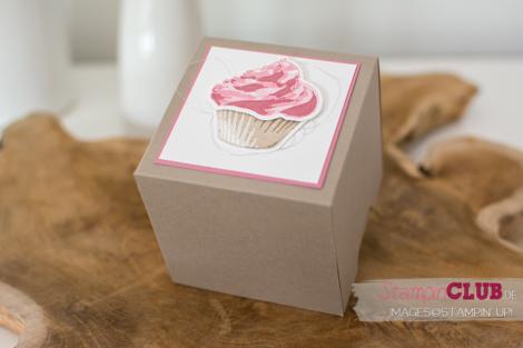 Stampin Up, Simply Scored Falzbrett, Box, Cupcake fuer dich, Sweet Cupcakes, Framelits Formen Cupcake-Kreation, Cupcake Cutouts Framelits Dies