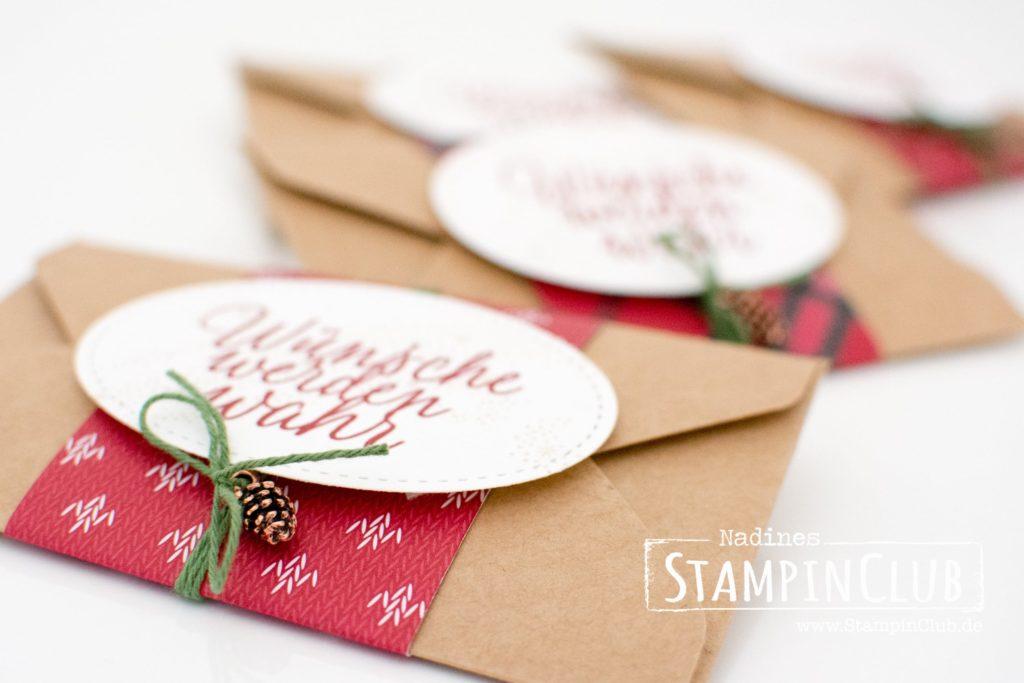 StampinClub, Stampin' Up!, Geschenkgutschein, Drauf und dran, Weihnachtsstern