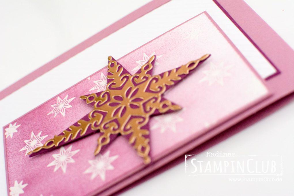 StampinClub, Stampin' Up!, Emboss resist, Weihnachtsstern, Sternenzauber