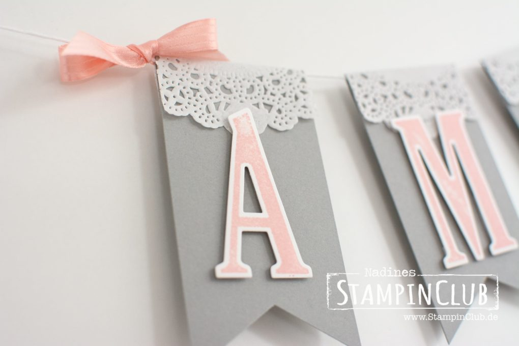 StampinClub, Stampin' Up, Letters For You, Girlande