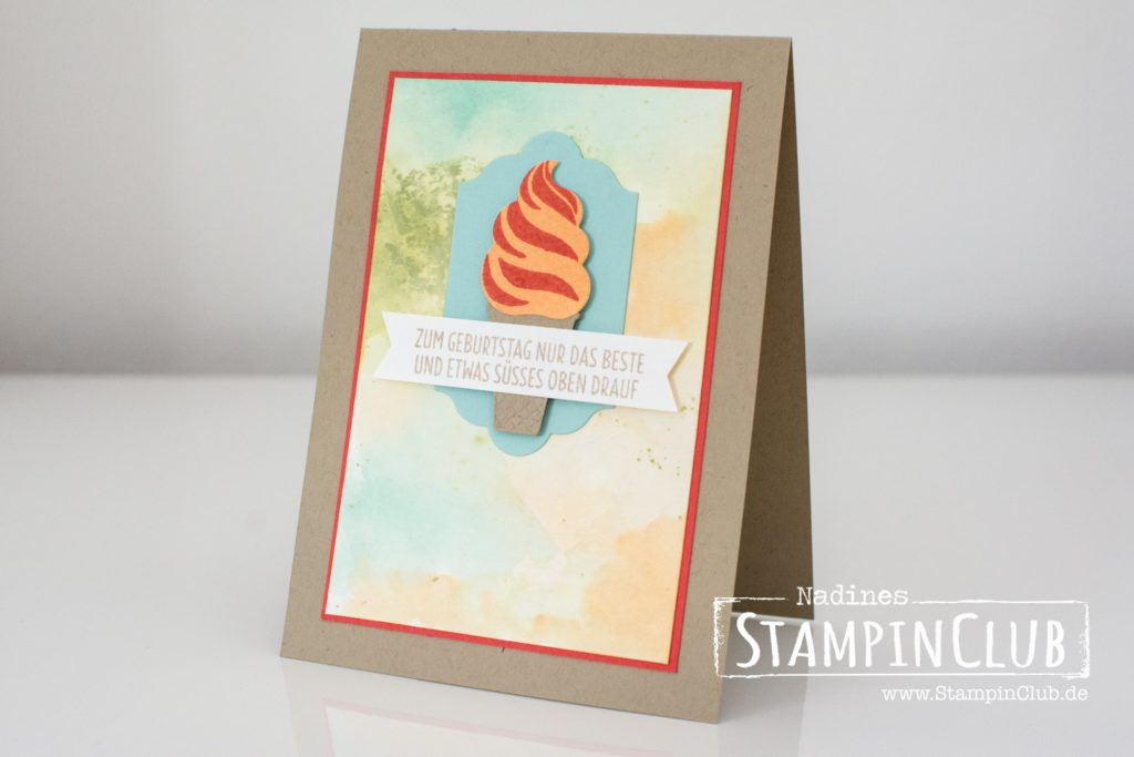 StampinClub, Stampin' Up!, Eis Eis Baby, Cool Treats, Framelits Formen Coole Kreationen, Frozen Treats Framelits Dies
