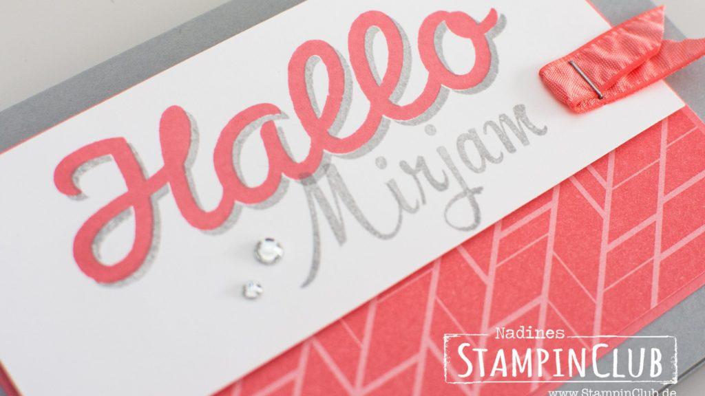 Stampin' Up!, StampinClub, Vertical Grarden, Vertikaler Garten, Brushwork Alphabet