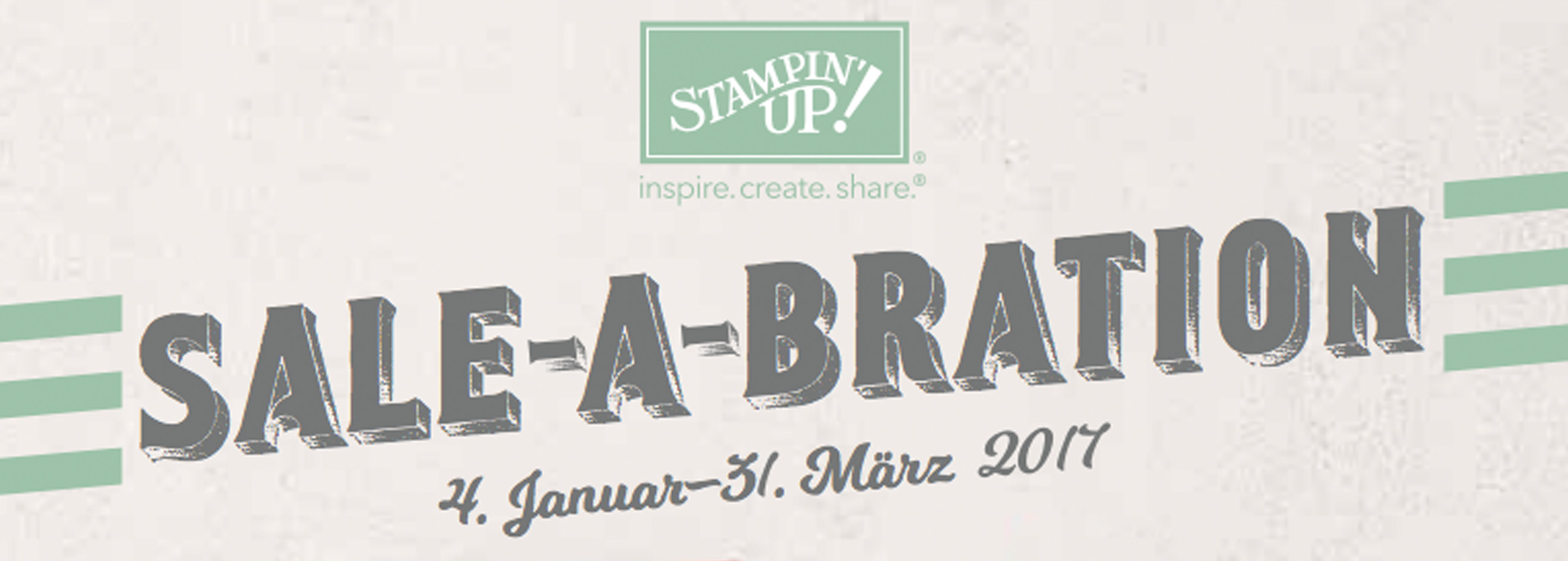 Stampin' Up! Sale-A-Bration 2017