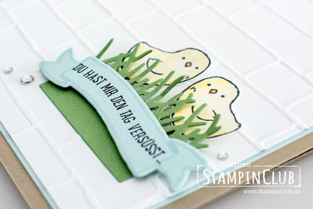StampinClub, Stampin' Up!, Little Cuties, Osterkörbchen, Basket Builder, Reflection Technique, Spiegel Technik