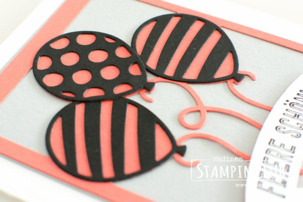 Stampin' Up!, StampinClub, Thinlits Formen Pop-Up-Ballons, Balloon Pop-Up Thinlits Dies, Ballonparty, Balloon Adventures