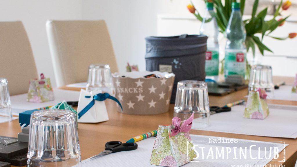 Stampin' Up!, StampinClub, Designerpapier Sukkulentengarten, Succulent Garden DSP, Stanz- und Falzbrett für Geschenktüten / Gift Bag Punch Board Stanz- und Falzbrett für Geschenktüten, Gift Bag Punch Board, WOrkshop