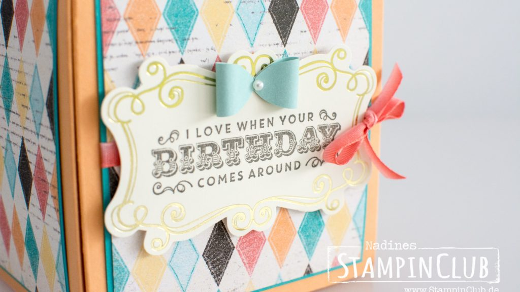 Stampin' Up!, StampinClub, Stanz- und Falzbrett für Geschenkschachteln, Giftbox Punch Board, Designerpapier im Block Cupcakes und Karussells, Kreativ Set Accessoires Cupcakes und Karussels
