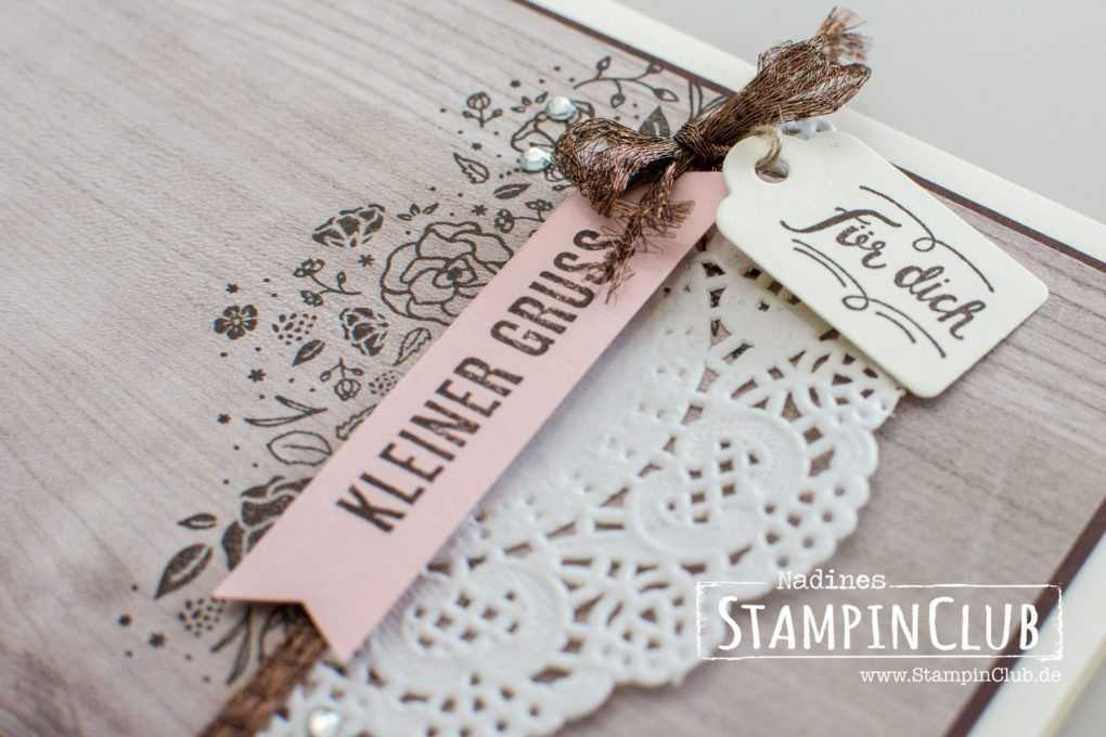 Stampoin' Up!, StampinClub, Kreativkiste, Wood Words, Designerpapier Holzdekor, Wood Textures DSP