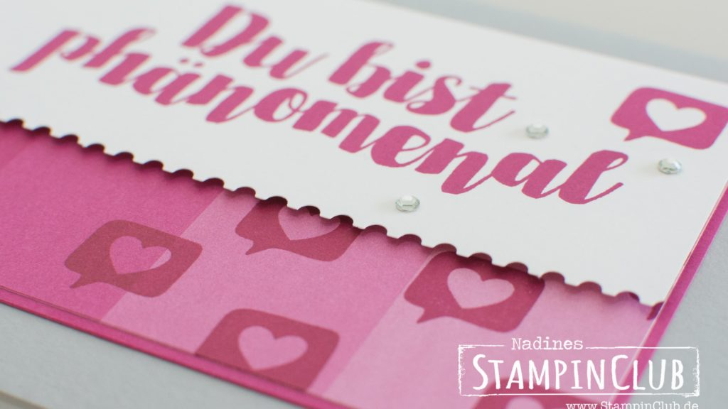 Stampin' Up!, StampinClub, Post mit PS, You're delightful, Designerpapier im Block Farbenspiel, Color Therapy DSP, Stanze Abreißkante, Ticket Tear Border Punch