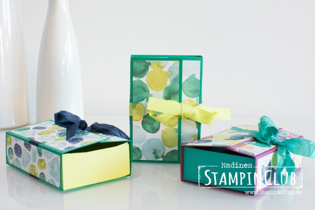 Stampin' Up!, StampinClub, Verpackung, Naschbox, Treat Box, DP Bunte Vielfalt, Naturally Eclectic Designer Series Paper