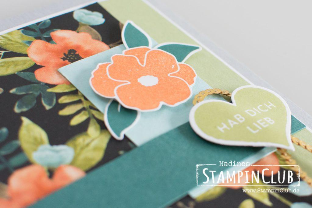 Stampin' Up!, StampinClub, Ganz liebe Grüße, Lots of Love, Designerpapier Allerliebst, Whole Lot of Lovely DSP