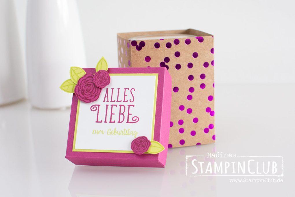 Stampin' Up!, StampinClub, Verpackung, Box, Alles Liebe Geburtstagskind, Happy Birthday Gorgeous