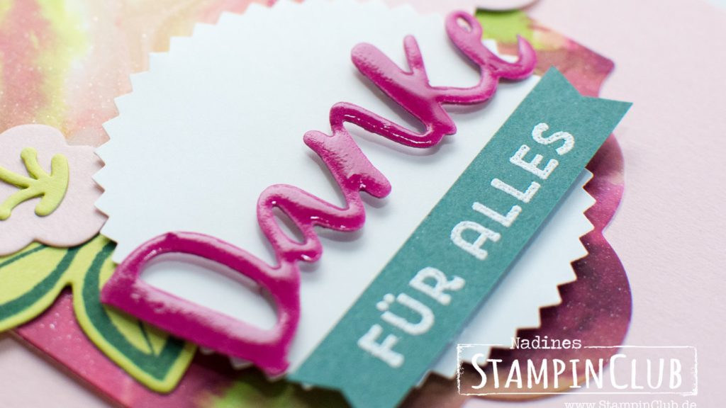 Stampin' Up!, StampinClub, Cling Wrap, Technique, Frischhaltefolie, Frischhaltefolien Technik