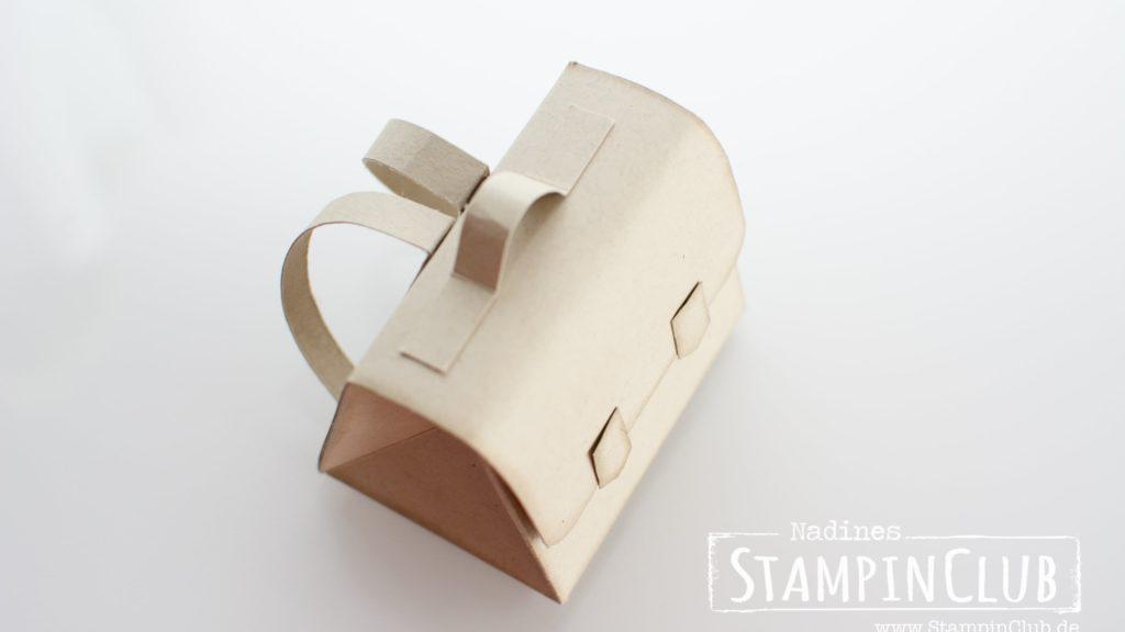 Stampin' Up!, StampinClub, Schule, School, Stanz- und Falzbrett für Geschenktüten, Ranzen, Schultasche, Einschulung, Schulanfang