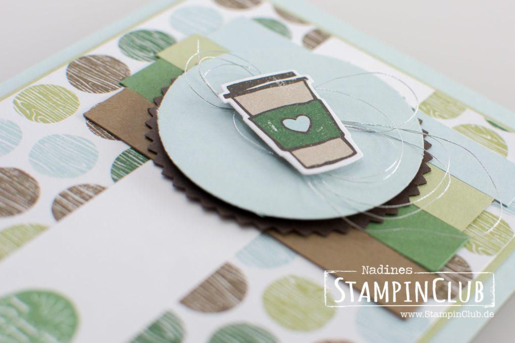 Stampin' Up!, StampinClub, Kaffee olé, Coffee Café, Designerpapier Kaffeepause, Coffee Break DSP