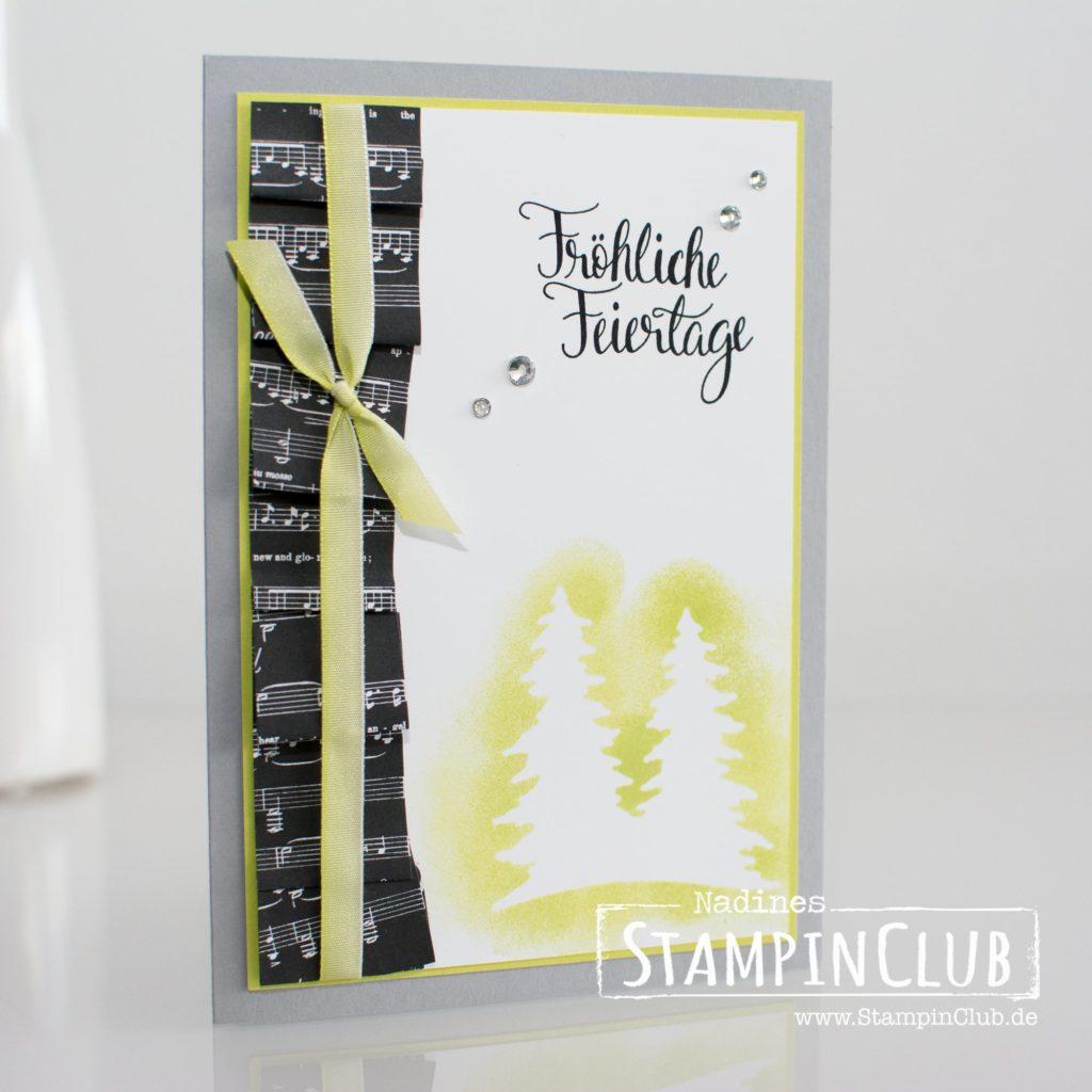 Stampin' Up!, StampinClub, Thinlits Festtagsdesign, Card Front Builder Thinlits Dies, Malerische Weihnachten, Die Cut Masking