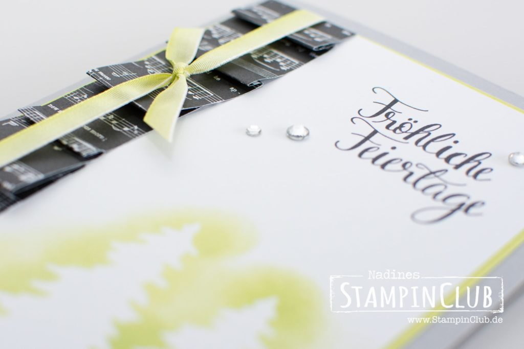 Stampin' Up!, StampinClub, Thinlits Festtagsdesign, Card Front Builder Thinlits Dies, Malerische Weihnachten