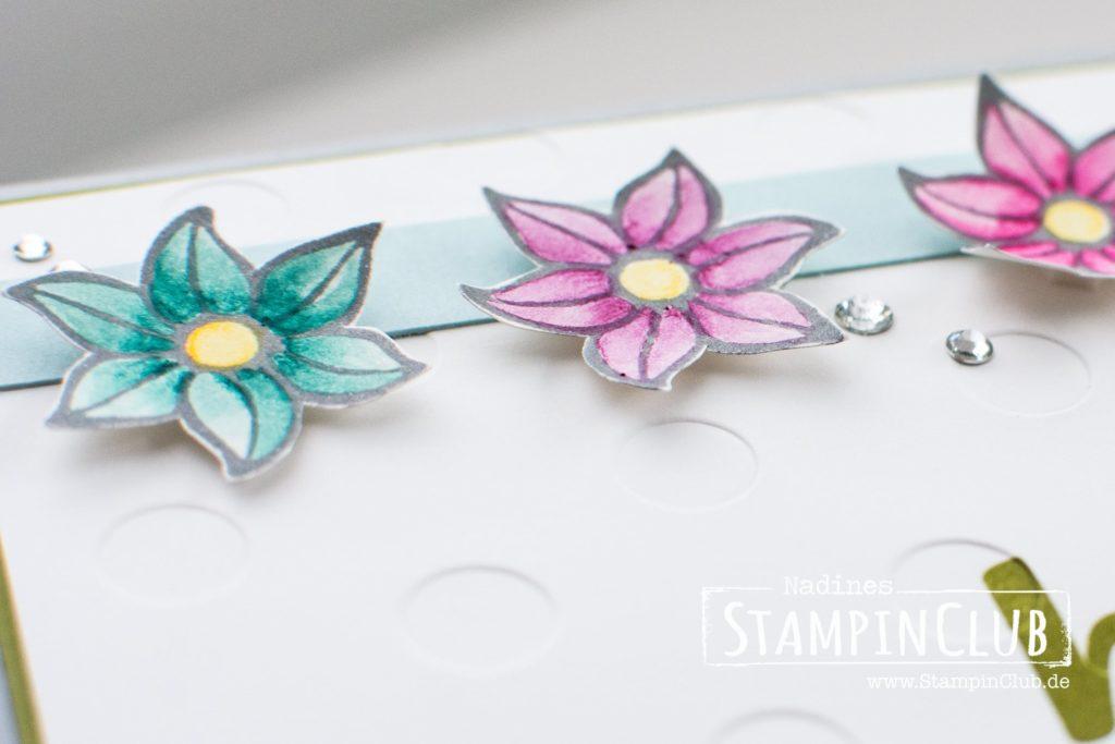 Falling Flowers, An dich gedacht, Stampin' Up! StampinClub, Blumen
