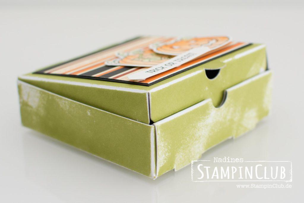 Seasonal Chums, Stampin' Up!, StampinClub, Halloween, Pumpkin, Mini-Pizzaschachteln