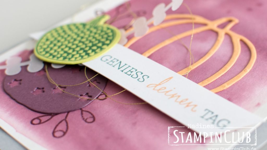 Stampin' Up!, StampinClub, Thinlits Erntedank, Patterned Pumplins Thinlits, Zum Ehrentag, Happiest of days, Pick a Pumpkin