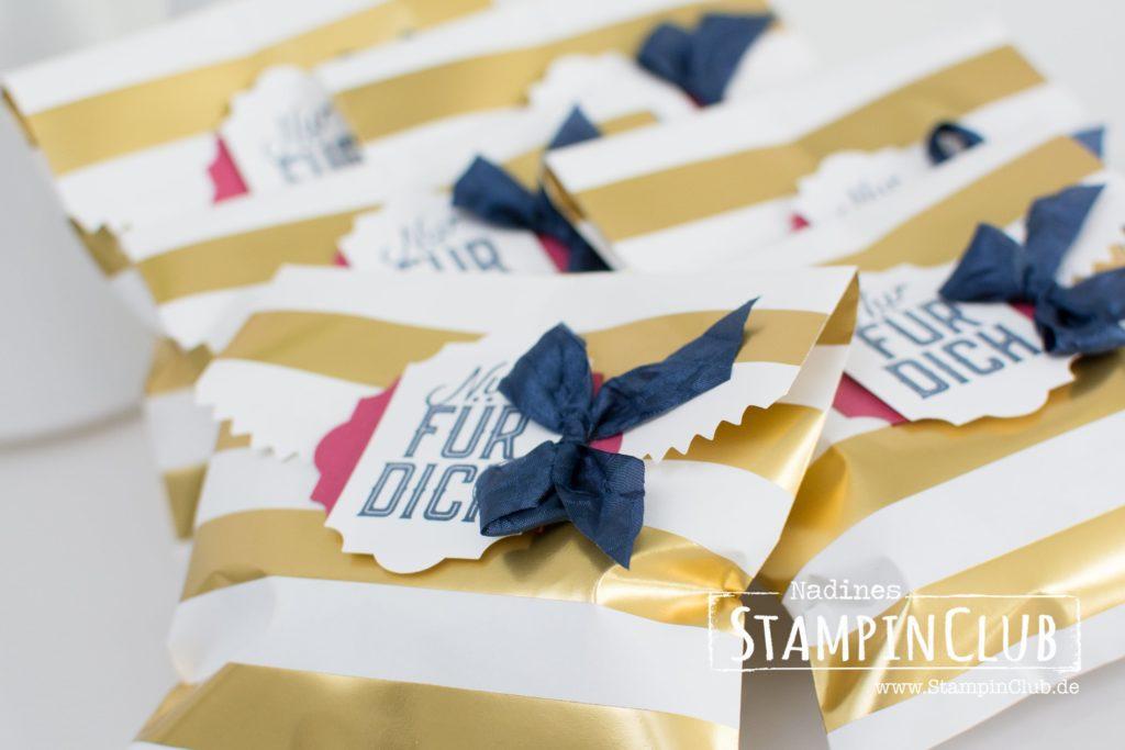 Gestreifte Geschenktüten, Stampin' Up!, StampinClub, Etikett für jede Gelegenheit