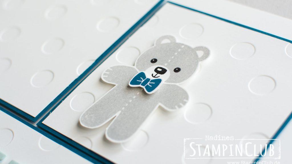 Stampin' Up!, StampinClub, Ribba Rahmen, Geburt, Junge, Swirly Bird, Ausgestochen Weihnachtlich
