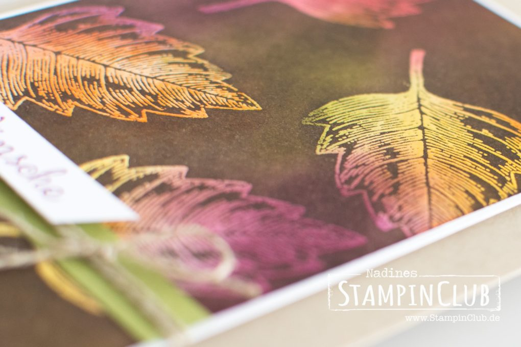 Stampin' Up!, StampinClub, Vintage Leaves, Emboss Resist