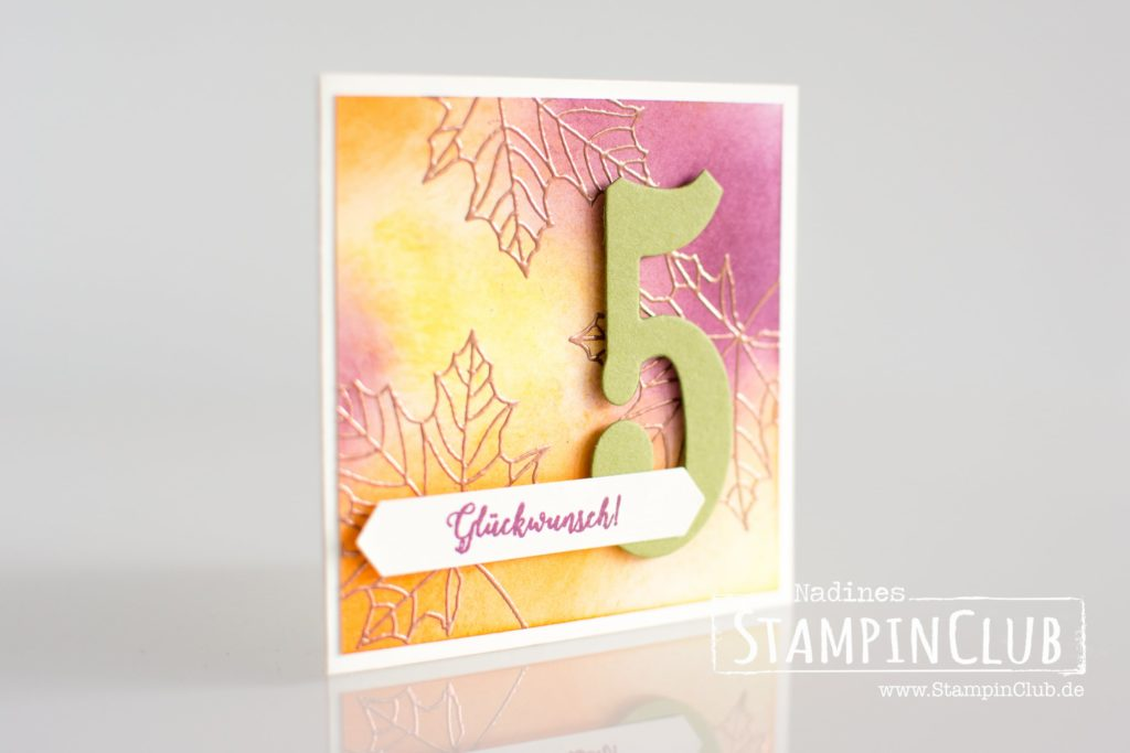 Stampin' Up!, StampinClub, Herbst, Demogeburtstag, Framelits Große Zahlen, Large Number Framelits, Jahr voller Farben, Colorful Season