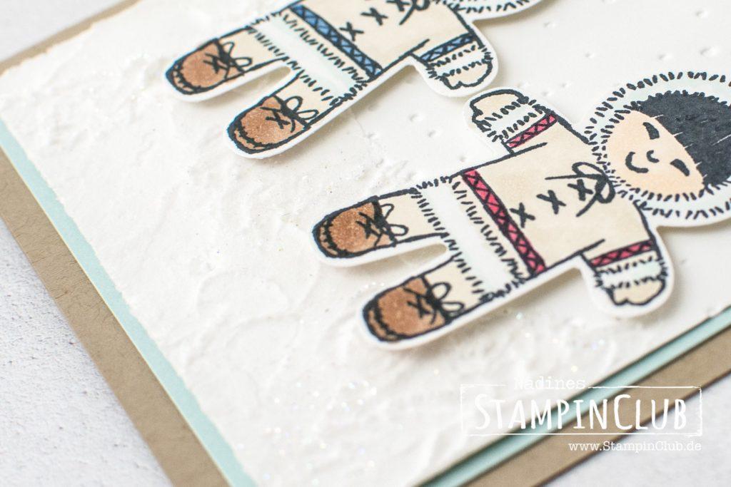 Stampin' Up!, StampinClub, Strukturpaste, Malerische Weihnachten, Watercolor Christmas, Ausgestochen Weihnachtlich, Cookie Cutter Christmas, Lebkuchenmännchen Elementstanze