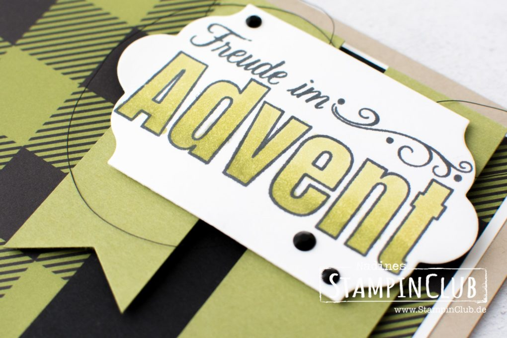 Freude im Advent, Merry Patterns, Stampin' Up!, StampinClub, Stampin' Blends