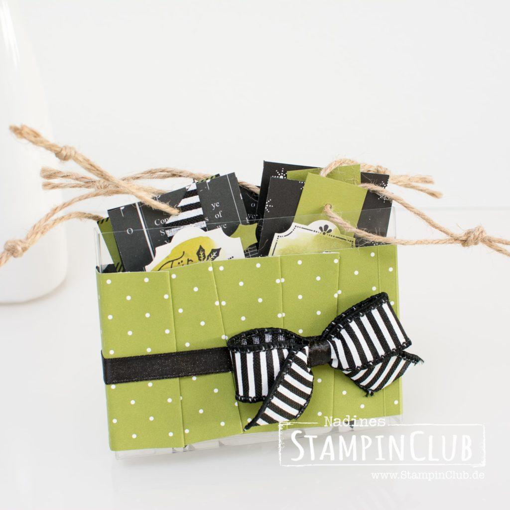 Stampin' Up!, StampinClub, Azetatschachteln für Karten, Geschenkanhänger, Box